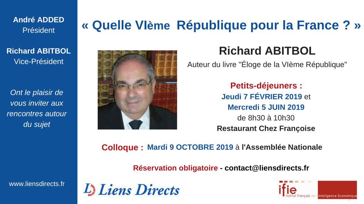 Quelle VIème République ? - Invitation - André Added